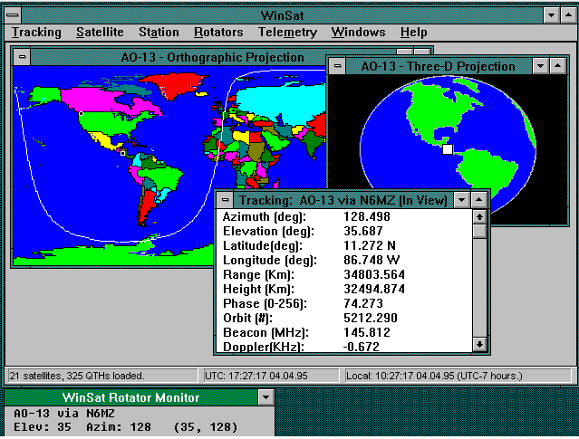 WinSat via AMSAT in 1990's.